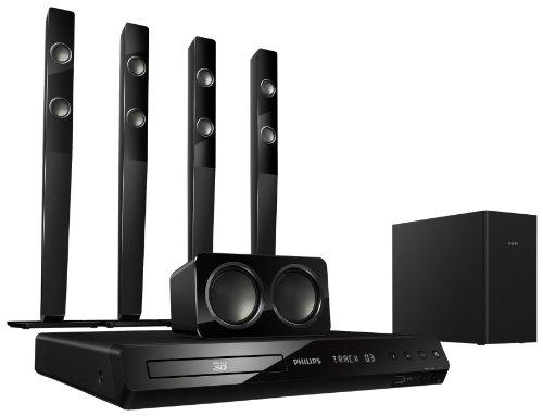 Philips HTS3593/12 5.1 3D-Blu Ray Heimkinosystem (HDMI, Upscaler 1080p, DivX-zertifiziert, Apple iPod-Anschluss, USB 2.0) schwarz