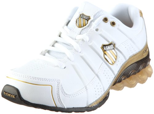 K-Swiss CLEAR TUBES RUN 50 92642-158-M Damen Sportschuhe - Fitness, weiss (white/gold/black), EU 39, (UK5.5)