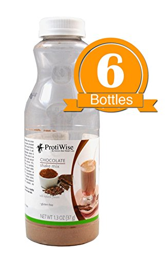 ProtiWise - Chocolate Instant Protein Diet Shake (6-Pack Bottles)