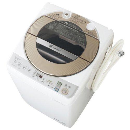 シャープ 9.0kg 全自動洗濯機 ゴールド系SHARP 穴なし槽カビぎらい ES-GV90M-N