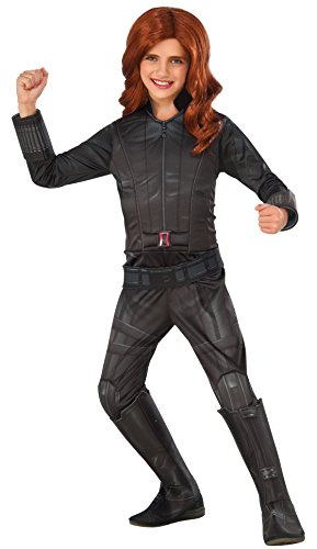 Rubie's Costume Captain America: Civil War Black Widow Deluxe Child Costume, Large