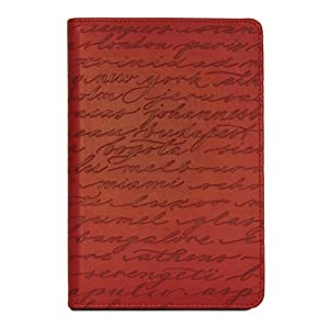 "Verso Kindle Cover, Cities by Sharyn Sowell (Fits 6"" Display, Latest Generation Kindle), Red/Grey"