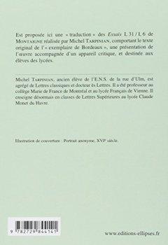 Livres Couvertures de Montaigne, Essais (I,31 et III,6) : Edition bilingue