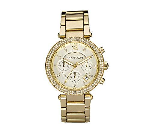 michael kors goldtone parker watch,video review,(VIDEO Review) Michael Kors Goldtone Parker Watch,