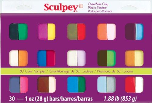 Sculpey III Polymer Clay Color Sampler, Multicolor