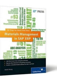 Livres Couvertures de [(100 Things You Should Know About Materials Management in SAP ERP)] [by: Martin Murray]