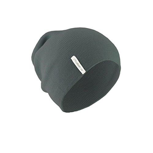 urban air | Slouch Beanie, Mütze | Damen, Herren, Unisex | für das ganze Jahr, weicher Stoff | in schwarz, dunkel grau, hell grau, dunkel blau oder weinrot | locker geschnitten