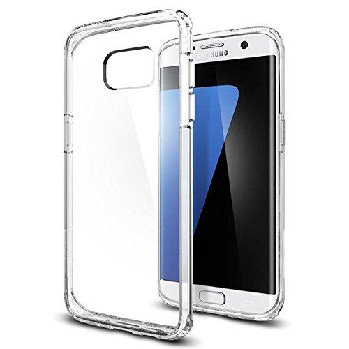 【Spigen】 Galaxy S7 Edge ケース, ウルトラ・ハイブリッド [ 米軍MIL規格取得 背面 クリア ] ギャラクシー S7 エッジ 用 カバー (Galaxy S7 Edge, クリスタル・クリア)
