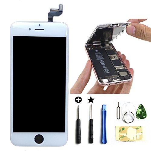 iPhone6s 4.7インチ(白)交換修理 フロントパネルデジタイザーLCD液晶(ホワイト) LCD スクリーン 3Dタッチスクリーン 修理工具(パーツ)付き 割れフロントガラスデジタイザ カスタムパーツ(白)。