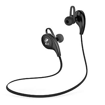 SoundPEATS(サウンドピーツ) QY8 Bluetooth イヤホン 【メーカー直販/1年保証付】 apt-Xコーデック採用 イヤホン 高音質 防水 防滴 ランニング中でも耳から外れにくい スポーツ仕様 ワイヤレスイヤホン ハンズフリー通話 CVC6.0 ノイズキャンセリング搭載 (ブラック)