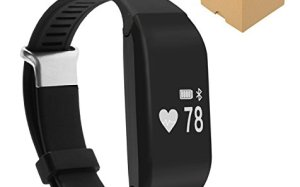 Jeemak Bluetooth 4.0 Smart band Heart Rate Monitor Smart Bracelet Wristband Fitness Tracker for iPhone Android Phone