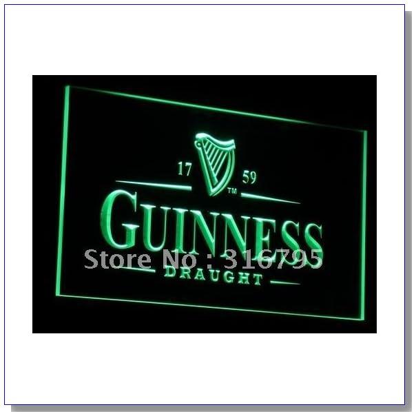 Neon Sign GUINNESS DRAUGHT BEER #1 Bar Pub Cafe Restaurant