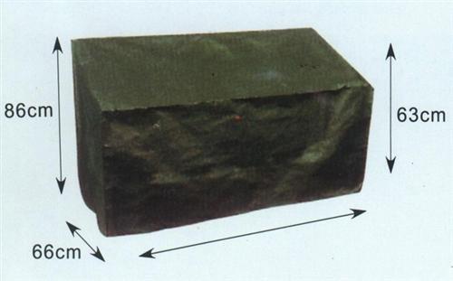 Abdeckhaube für Bank 2-sitzer 134cm grün, PE