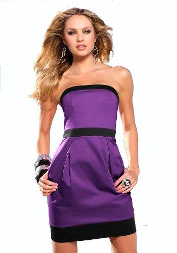 LIPSY Damen-Kleid Corsagen-Kleid lila-schwarz