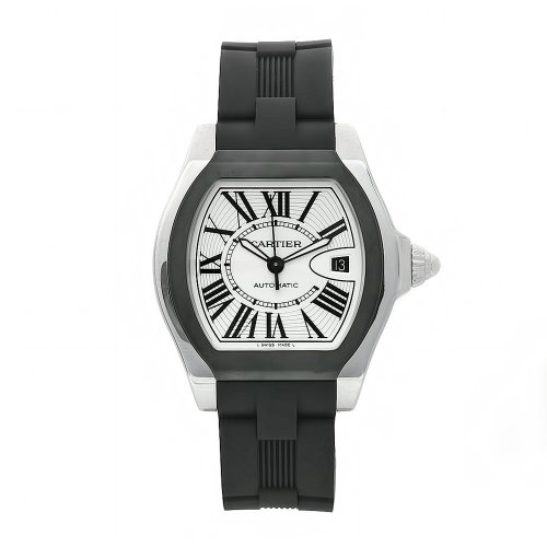 Cartier Men's W6206018 Roadster Rubber Strap Watch