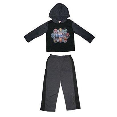 2PcsBoys-Marvel-Heroes-Fleece-Hoodie-Sweatshirt-Jacket-Pants-12M-Grey