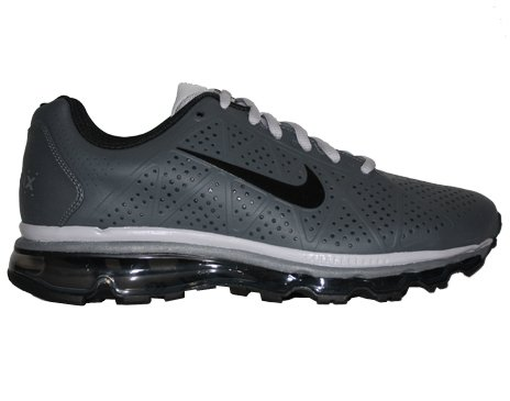 Buy Nike Air Max+ 2011 Leather Mens Running Shoes [456325-010] Dark Grey/Black-Dark Grey-Dark Grey Mens Shoes 456325-010-7.5
