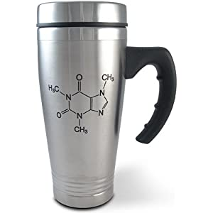 Caffeine Molecule Stainless Travel Mug