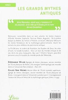Livres Couvertures de Les Grands Mythes antiques : Les textes fondateurs de la mythologie gréco-romaine