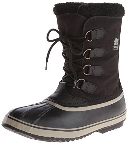 Sorel Men's 1964 Pac Nylon Snow Boot,Black/Tusk,10 M US