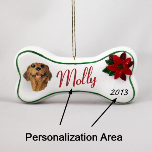Rhodesian Ridgeback Bone Ornament