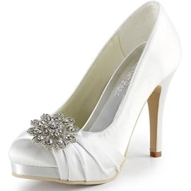 ElegantPark-Women-Closed-Toe-Platform-High-Heel-Buckle-Satin-Wedding-Prom-Evening-Dress-Pumps