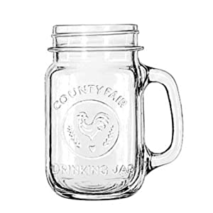 Libbey Country Jar 16-Ounce Mason Jar Glasses, Set of 12