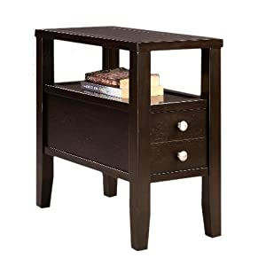 """... Finish Wood Bed Side End Table Nightstand 24"""": Kitchen & Dining"""