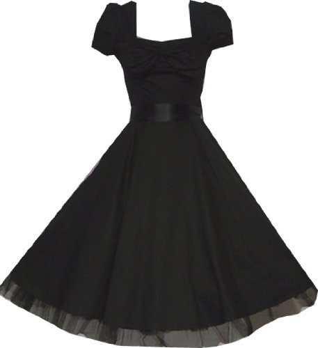 Pretty Kitty Fashion 50s Schwarz Cocktail Kleid