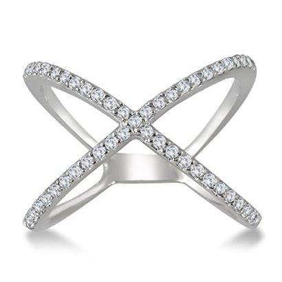 12-Carat-Diamond-Criss-Cross-X-Ring-in-10K-White-Gold