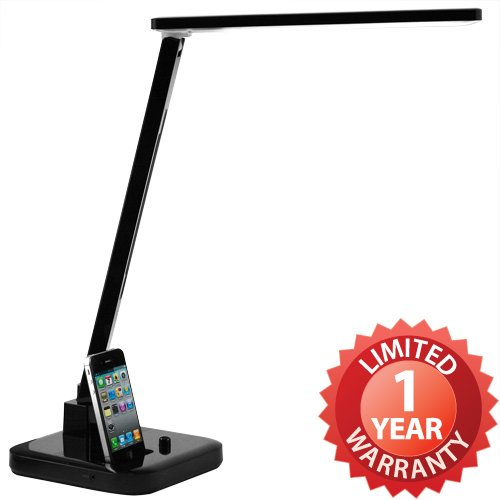 duogreen LED Lamp Desk Light Stand. Superior Natural Daylight with iPhone iPod Docking Station Speaker for Enhanced Studying Concentration and Reading Enjoyment. 4 Spectrum mode Reading, Study, Relaxation, Bedtime Eco-friendly