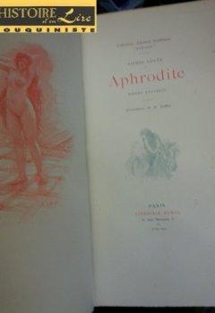 Livres Couvertures de Aphrodite Moeurs antiques Illustrations de A Calbet Librairie Borel 1896
