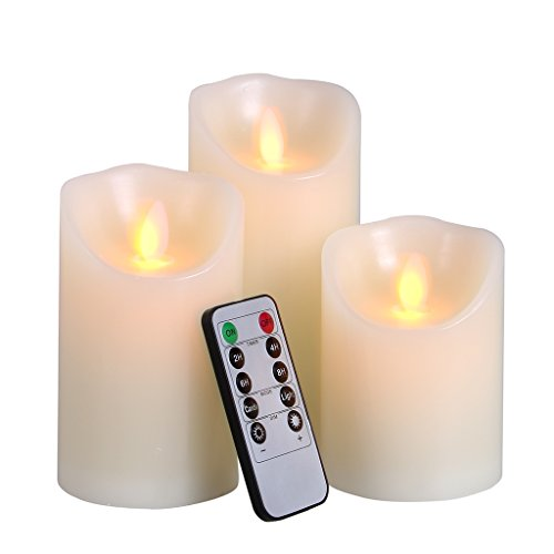 Flickering Timer Candle Operated Battery