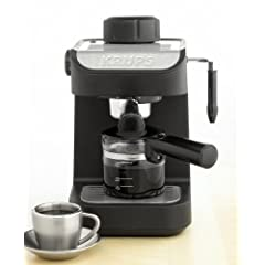 KRUPS XP1020 Steam Espresso Machine with 4-Cup Glass Carafe Black