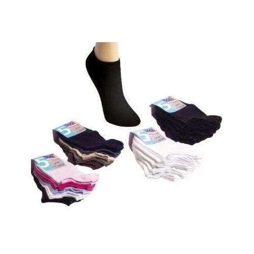 10 Paar Dietzl Sneakersocken für Damen, Herren und Teenager, Farbe:Schwarz;Größe:37-42