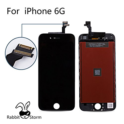 Super LCD Shop iPhone6 フロントパネル カスタムパーツ 4.7インチ 液晶パネル LED スクリーン 修理パーツ ブラックPack of 1