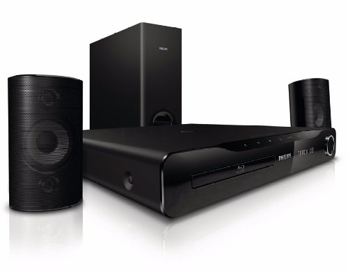 Philips HTS3231/12 2.1 Blu-ray Heimkino-System (HDMI, Upscaler 1080p, 3D Ready, DivX-zertifiziert, 300 Watt, USB 2.0) schwarz