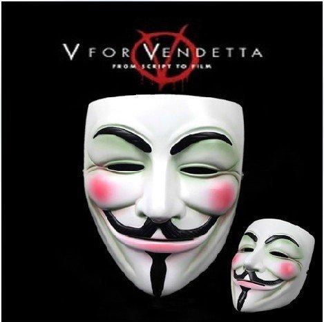 OM(TM) V for Vendetta Mask Resin Anonymous Guy Fawkes Halloween Mask