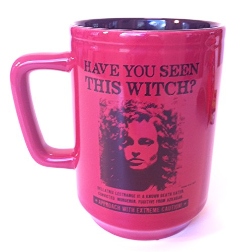 Wizarding World of Harry Potter : Bellatrix Lestrange Wanted Witch Ceramic Coffee Mug Cup