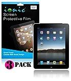 IONIC Screen Protector Film MATTE (Anti-Glare) for Apple iPad 2, iPad 3, iPad 4, iPad 2nd, iPad 3rd, iPad 4th Generation AT&T Verizon 4G LTE (3-pack)[CrazyOnDigital Retail Package]
