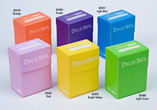 Ultra-Pro Deck Box, Set of 6 (Orange, Purple, Light Blue, Pink, Yellow, Light Green)