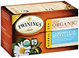 Twinings Camomile with Mint and Lemon Organic Tea, 20 Count Tea Bags