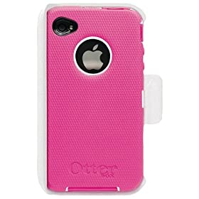Otterbox Universal iPhone 4 Defender Case (Hot Pink Silicone & White Plastic)