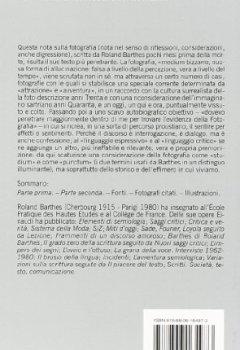 Copertina del libro di La camera chiara. Nota sulla fotografia
