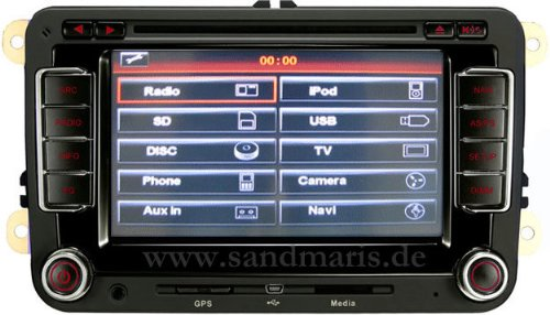san 510 vw navigation navi fur vw wie rns 510 gps tour test. Black Bedroom Furniture Sets. Home Design Ideas