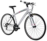 "Diamondback Bicycles 2016 Women's Clarity 1 Complete Performance Hybrid Bike, Silver, 20"" Frame"
