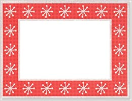 Dots Amp Snowflakes Christmas Photo Frame Greeting Cards