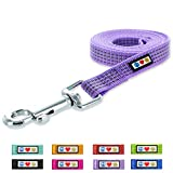 Pawtitas 6-ft Reflective Dog Leash Extra Small/Small Purple Orchid 5/8 Inch