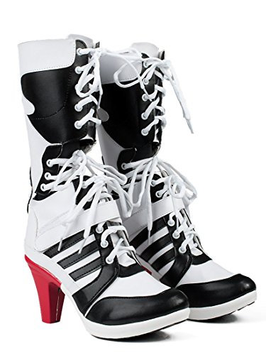 Dreamy House Womens Cosplay Shoes Suicide Squad Harley Quinn Boots (Female US 7)