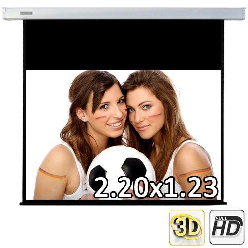 253 cm (220x123 sichtbar) ULTRALUXX © RM Automatik Rolloleinwand - 16:9 LUXUS PROFI ROLLO LEINWAND - Neuware DIREKT vom Hersteller